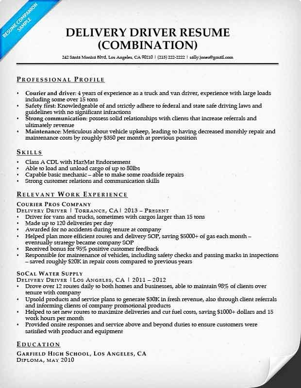 Truck Driver Resume Template Elegant Delivery Driver Resume Sample