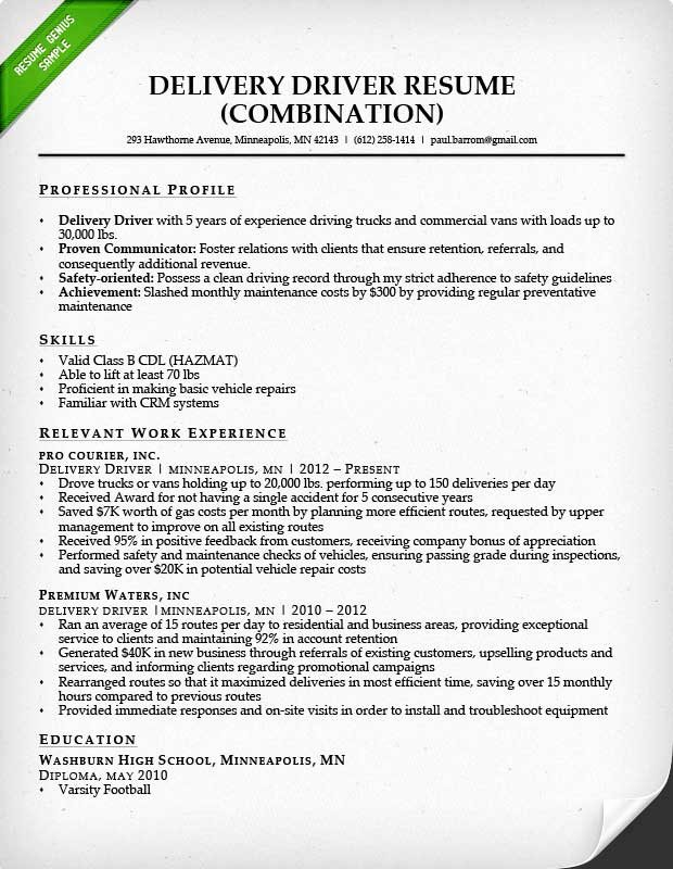 Truck Driver Resume Template Inspirational Truck Driver Resume Sample and Tips