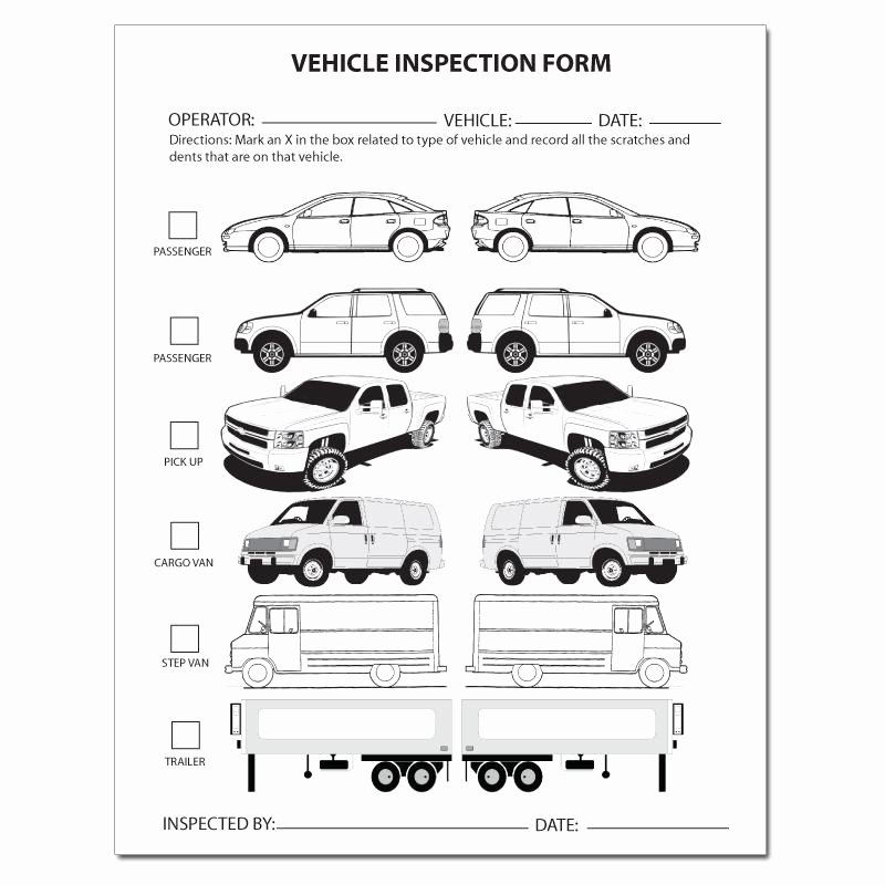 Truck Inspection form Template Inspirational Automotive Repair Invoice Work order Estimates