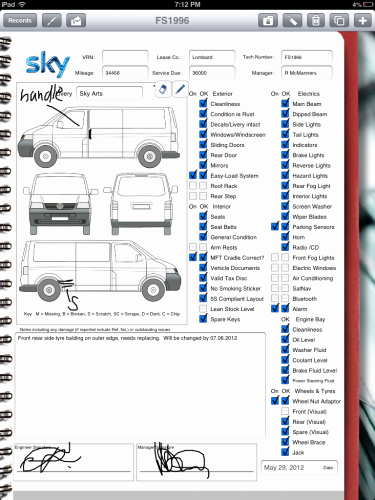 Truck Inspection form Template New Car Rental Pany Uses Ipad for Vehicle Inspection