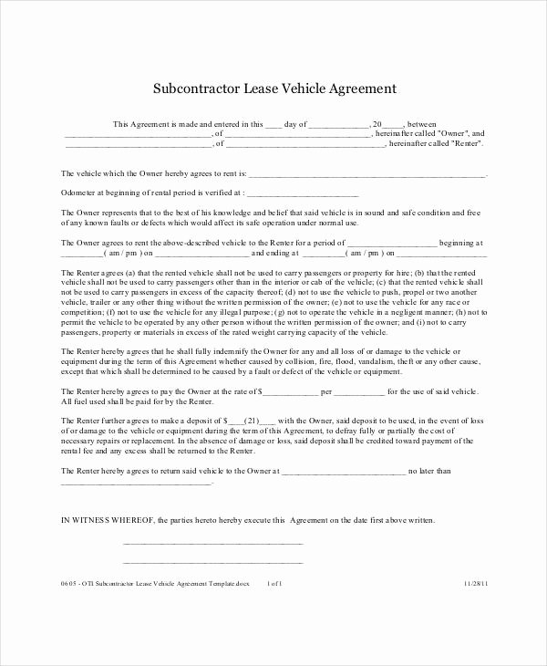 Truck Lease Agreement Template Best Of 12 Vehicle Lease Agreement Templates Docs Word