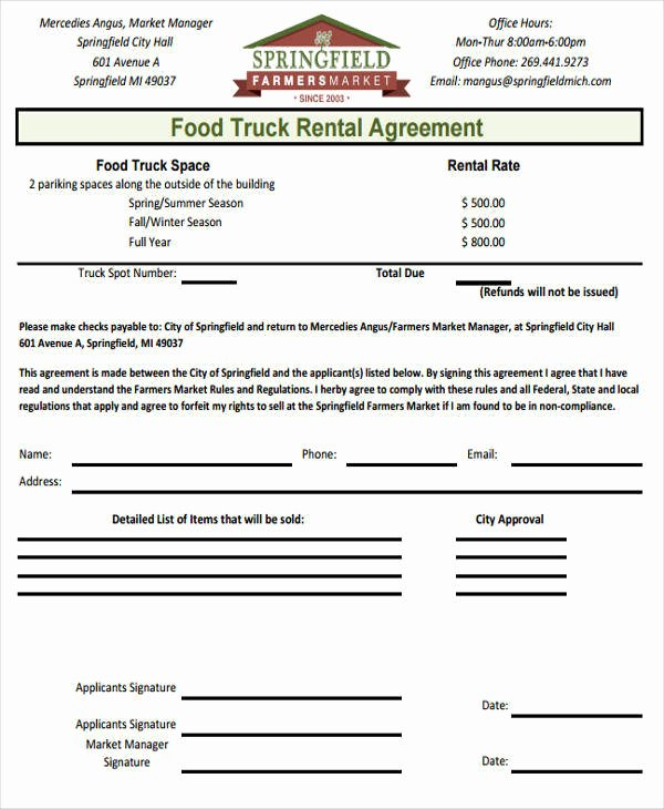 Truck Lease Agreement Template Best Of 37 Lease Agreements In Pdf