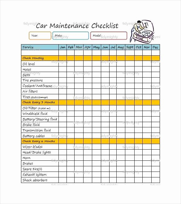 Truck Maintenance Checklist Template Best Of 27 Maintenance Checklist Templates Pdf Doc