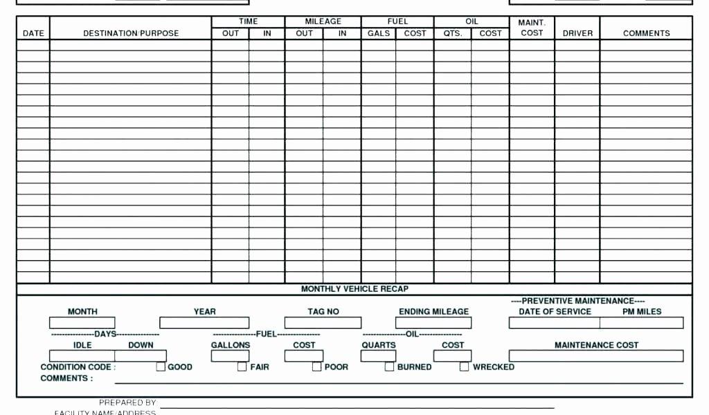 Truck Maintenance Schedule Template Best Of Truck Maintenance Schedule Template Vehicle Maintenance