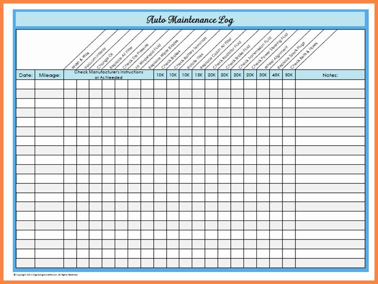 Truck Maintenance Schedule Template Luxury Basic Car Maintenance Schedule