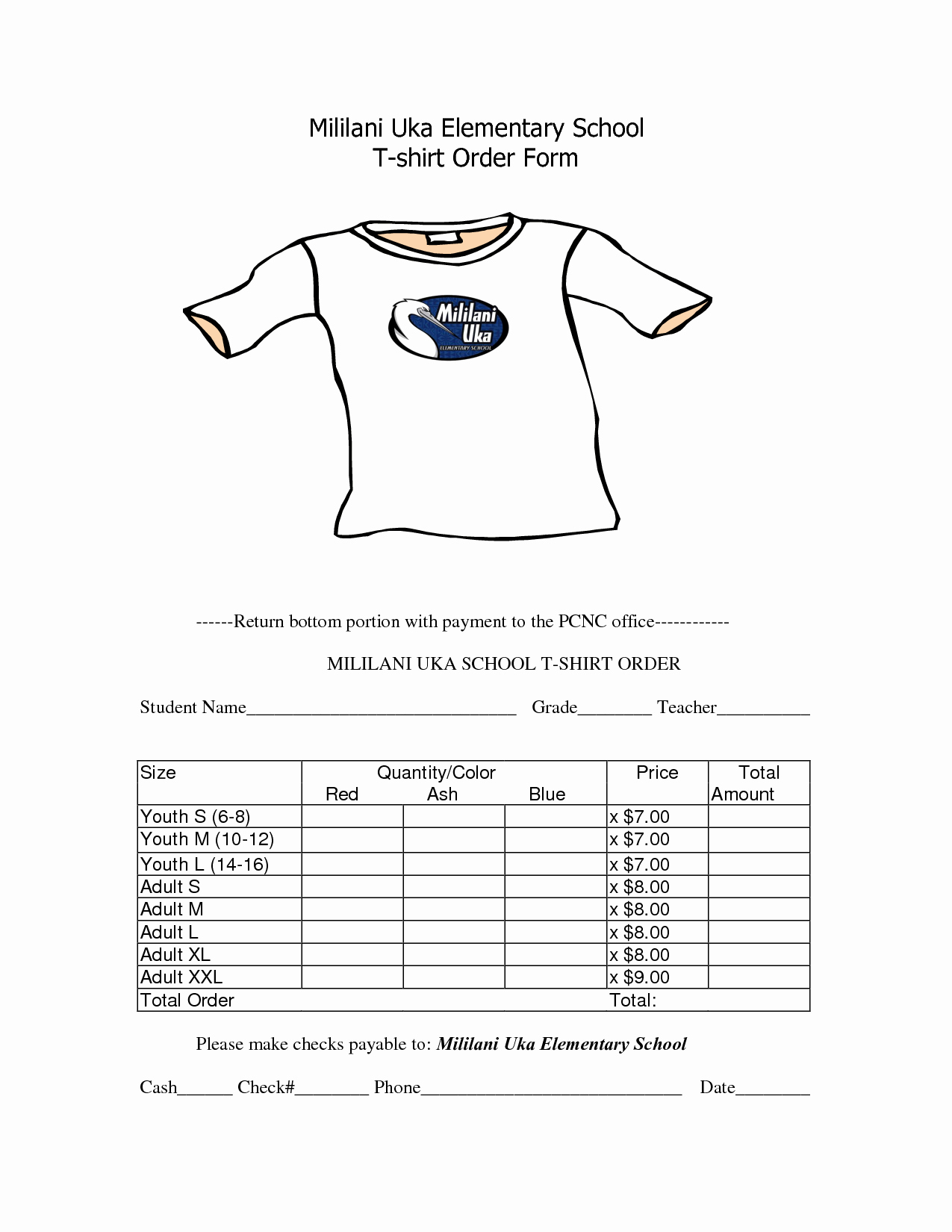 Tshirt order form Template Awesome School T Shirt order form Template Clothes