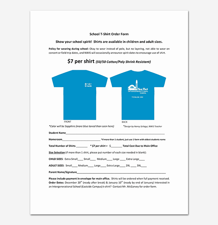 Tshirt order form Template Lovely T Shirt order form Template 17 Word Excel Pdf