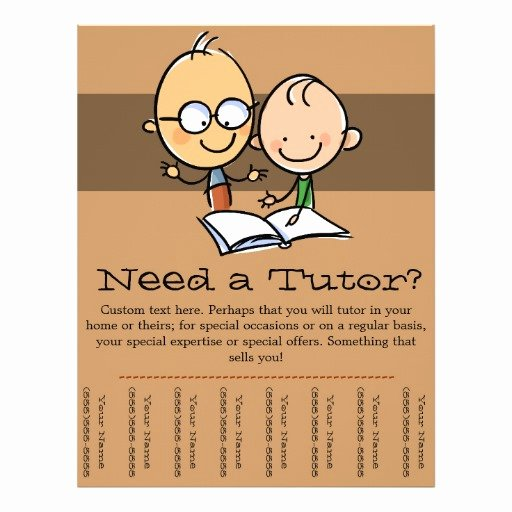 Tutor Flyer Template Free Awesome 10 Best Of Sample Tutoring Flyer Templates In