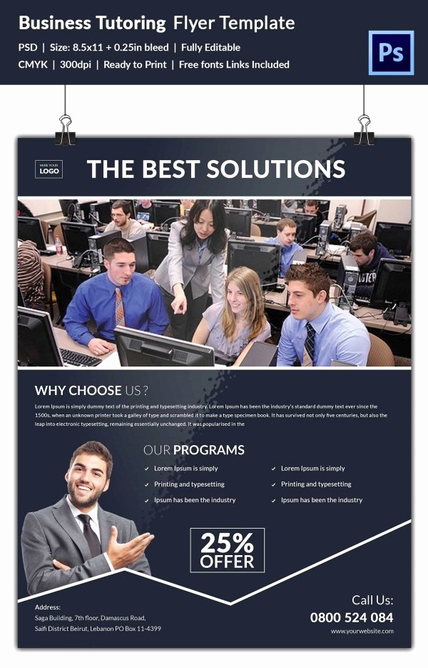 Tutor Flyer Template Free Best Of Tutoring Flyer Template 26 Free Psd Ai Vector Eps