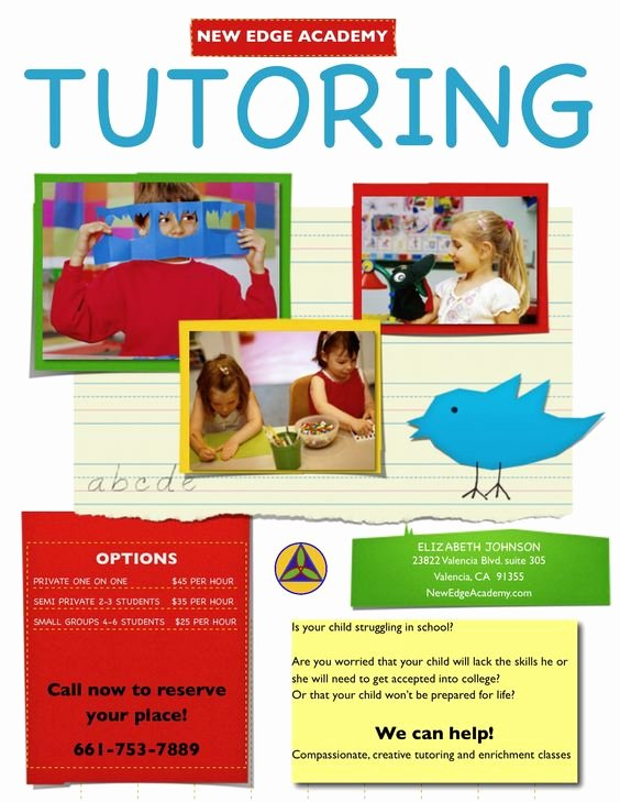Tutor Flyer Template Free Inspirational Tutor Flyer Google Da Ara Tutor Flying