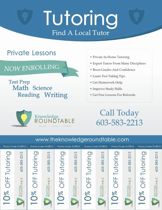 Tutor Flyer Template Free Lovely Cool Tutoring Flyers Education Pinterest