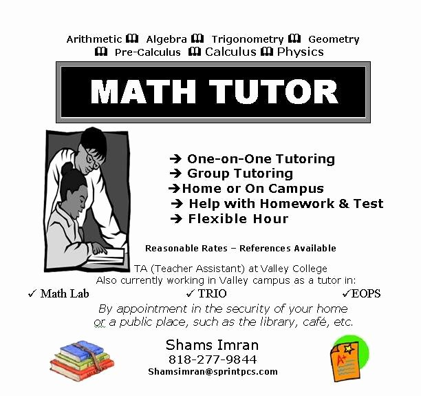 Tutor Flyer Template Free New Math Tutor Flyer Template Wally Designs Math Tutoring