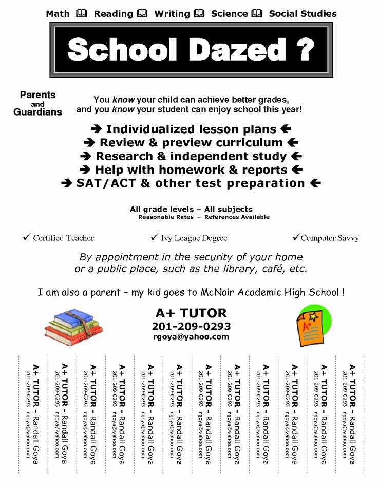 Tutoring Flyer Template Free Inspirational 60 Best Images About Tutoring On Pinterest