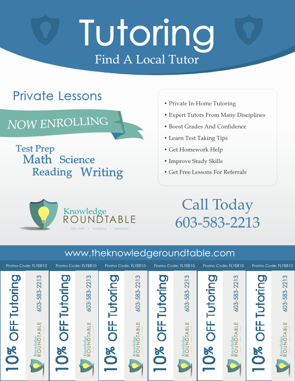 Tutoring Flyer Template Free Inspirational Cool Tutoring Flyers the Knowledge Roundtable