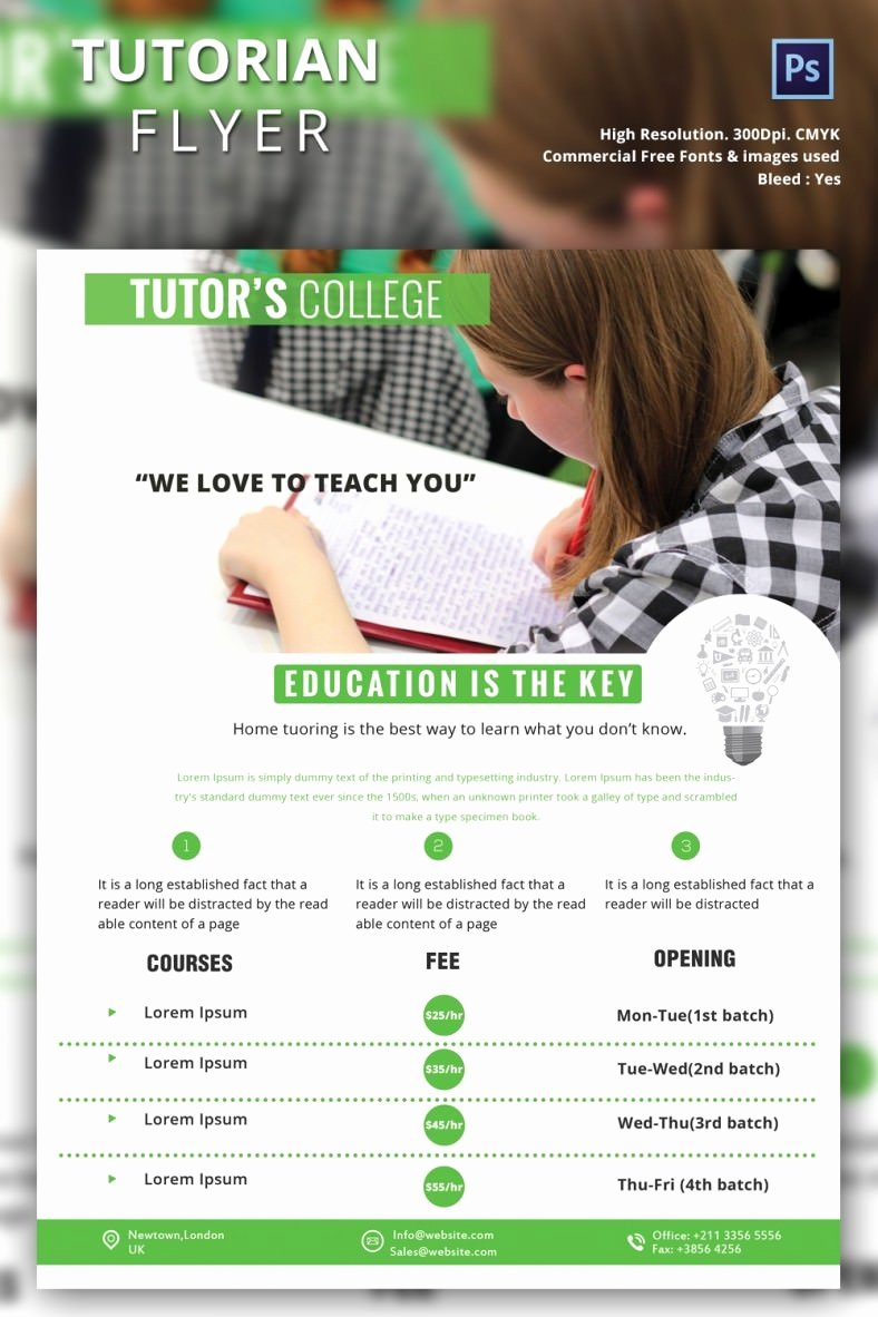 Tutoring Flyer Template Free Inspirational Tutoring Flyer Template 26 Free Psd Ai Vector Eps
