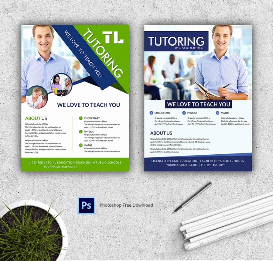Tutoring Flyer Template Free New 48 Free Flyers Corporate Party Fashion
