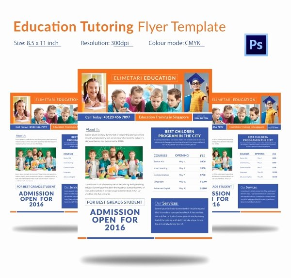 Tutoring Flyer Template Free New Tutoring Flyer Template 26 Free Psd Ai Vector Eps