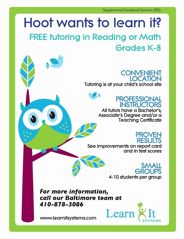Tutoring Flyer Template Free Unique 15 Cool Tutoring Flyers 9 Tutoring