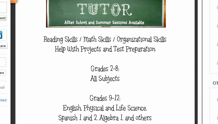 Tutoring Flyer Template Free Unique 4 Tutoring Flyer Templates