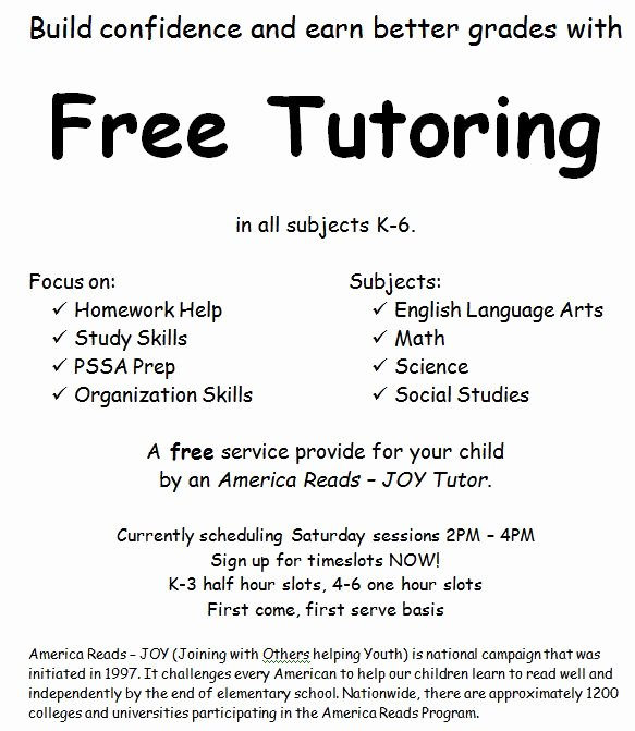 Tutoring Flyers Template Free New Adventures In A Semester Of Being An America Reads Tutor