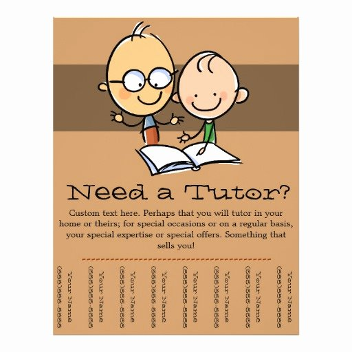 Tutoring Flyers Template Free New Tutor Tutoring Promotional Tear Sheet Flyer