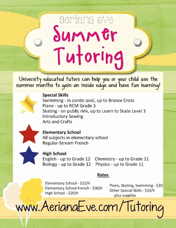Tutoring Flyers Template Free Unique 15 Best Images About Tutoring On Pinterest