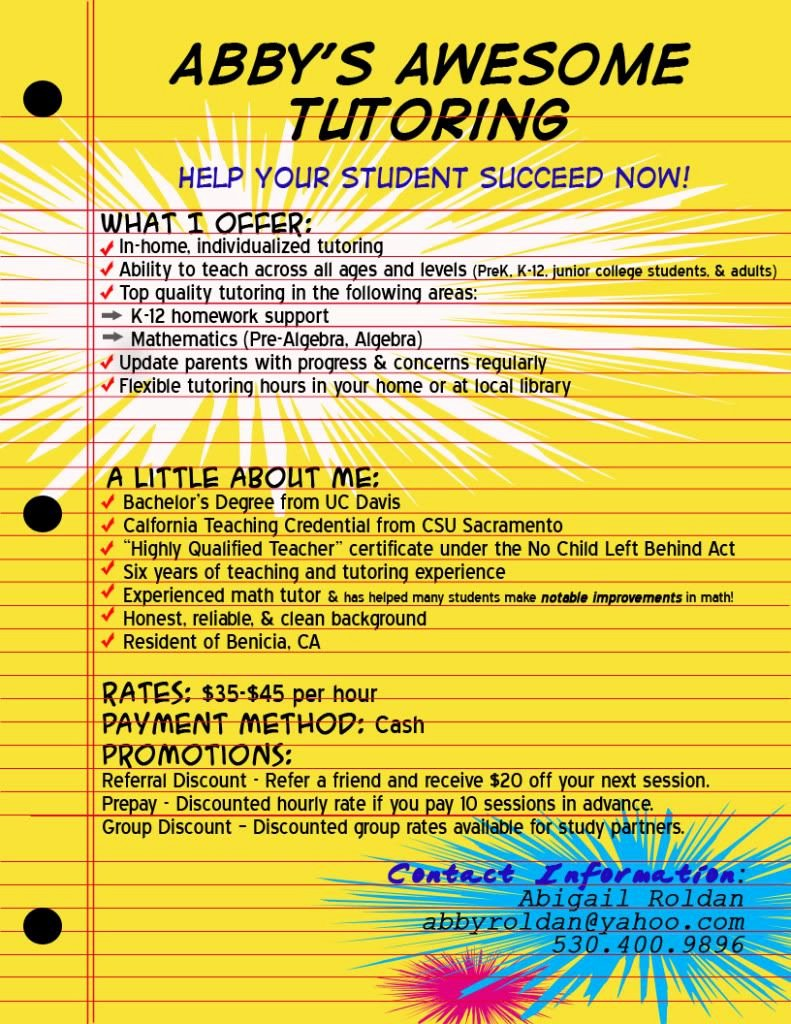 Tutoring Flyers Template Free Unique Tutor Flyer Google Da Ara