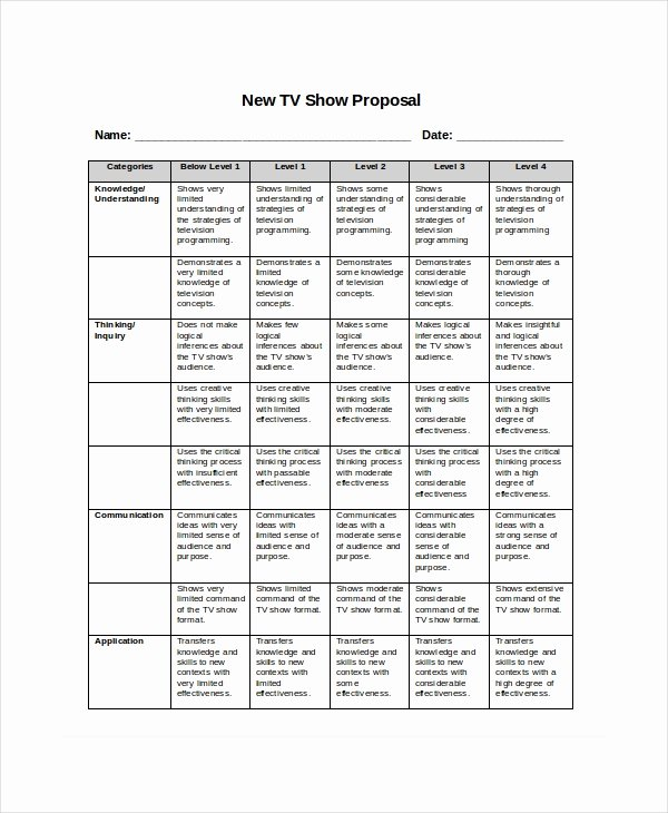 Tv Show Concept Template Best Of Program Proposal Template 11 Free Word Pdf Documents