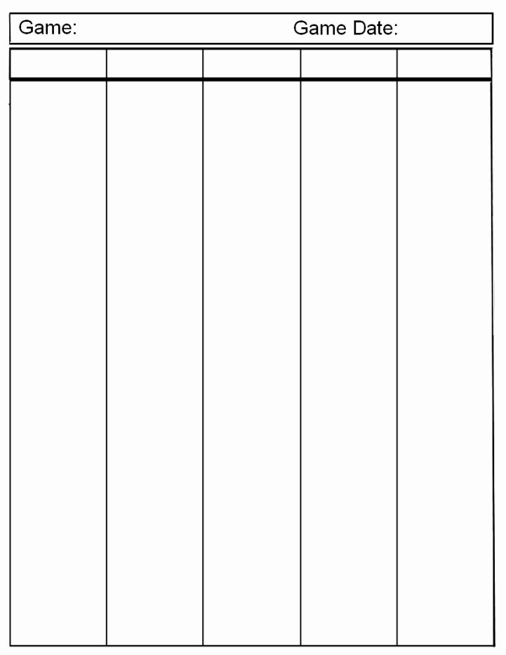 Two Column Notes Template Beautiful 10 Best Of T Chart Template 5 Columns Three