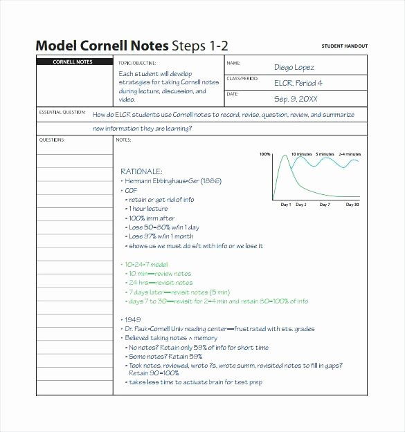 Two Column Notes Template Beautiful Notes format Two Column Note Taking Template Word – Lccorp