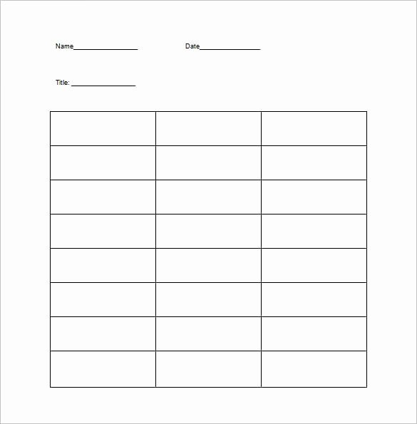 Two Column Notes Template Best Of 16 T Chart Templates Doc Pdf