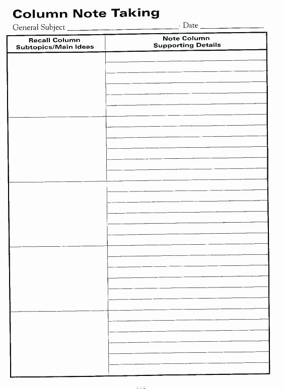 Two Column Notes Template Elegant Syntax Two Column Spreadsheet Template How to Extract