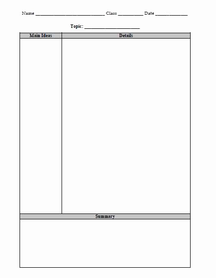 Two Column Notes Template Fresh Note Taking Strategies the Religion Teacher