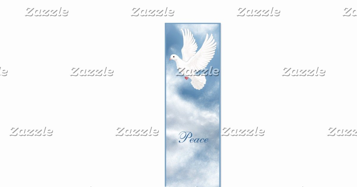 Two Sided Bookmark Template Elegant Peaceful Dove Bookmark Double Sided Mini Business Cards