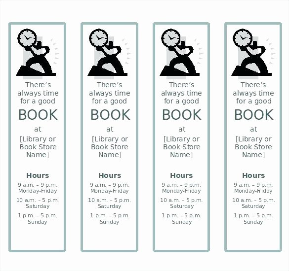 Two Sided Bookmark Template Luxury Two Sided Bookmark Template Bookma Template Publisher Word