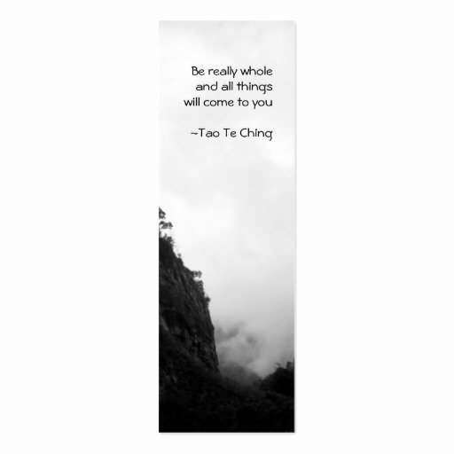 Two Sided Bookmark Template New Tao Te Ching No 2 Bookmark Double Sided Mini Business