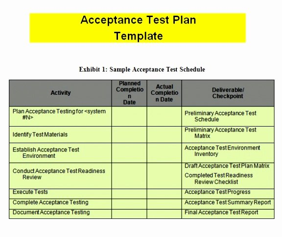 Uat Test Plan Template Elegant 5 Uat Test Plan Template Rrorp