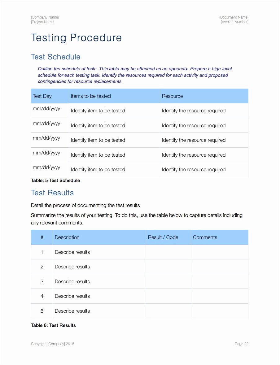 Uat Testing Plan Template Best Of Acceptance Test Plan Template Apple Iwork Pages
