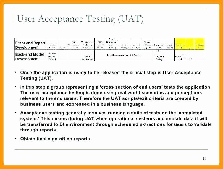 Uat Testing Plan Template Fresh Uat Template Sample – Kingest