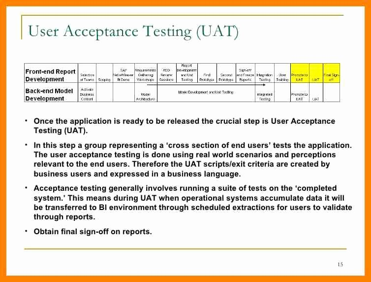Uat Testing Plan Template Lovely Uat Testing Template Excel