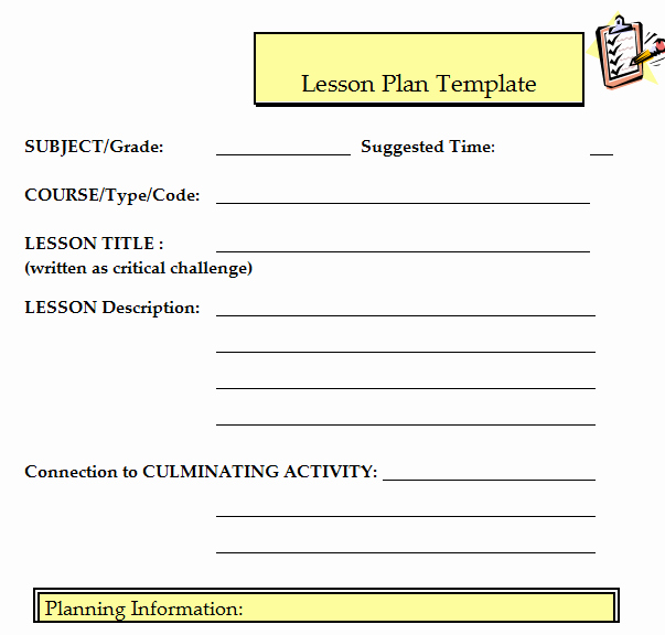 Udl Lesson Plan Template Best Of 41 Free Lesson Plan Templates In Word Excel Pdf