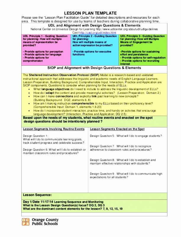 Udl Lesson Plan Template Fresh 5 Universal Design for Learning Lesson Plan Template Uorti