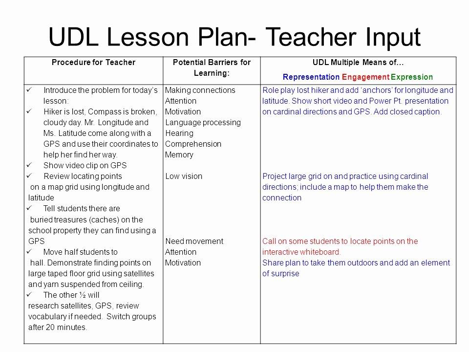 Udl Lesson Plan Template Lovely Elegant 28 Sample First Grade Udl Lesson Plans