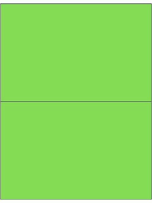Uline Laser Labels Template Inspirational Removable Laser Labels Fluorescent Green 8 1 2 X 5 1 2