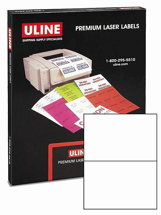 """Uline Laser Labels Template New Uline Laser Labels White 8 1 2 X 5 1 2"""" S 5044 Uline"""