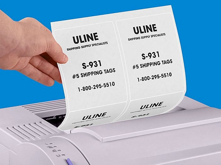 Uline Laser Labels Template New White Labels Full Sheet Labels White Laser Labels In
