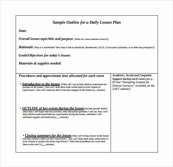 Unit Lesson Plan Template Awesome 10 Unit Lesson Plan Samples