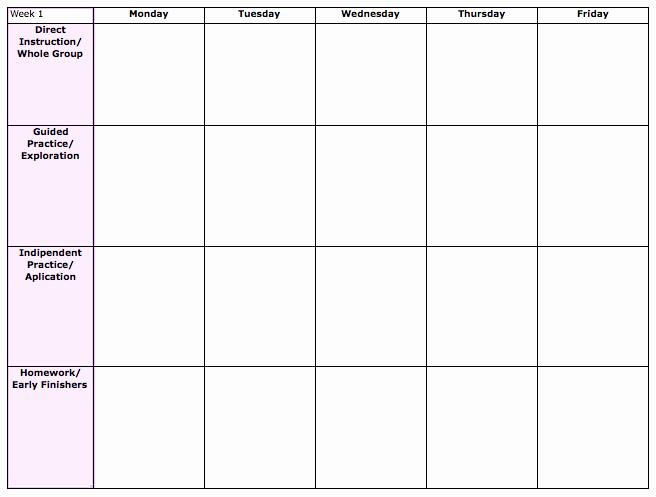 Unit Lesson Plan Template Elegant Unit Lesson Plan Template