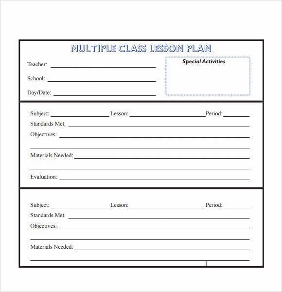 Unit Lesson Plan Template Fresh 10 Sample Lesson Plans