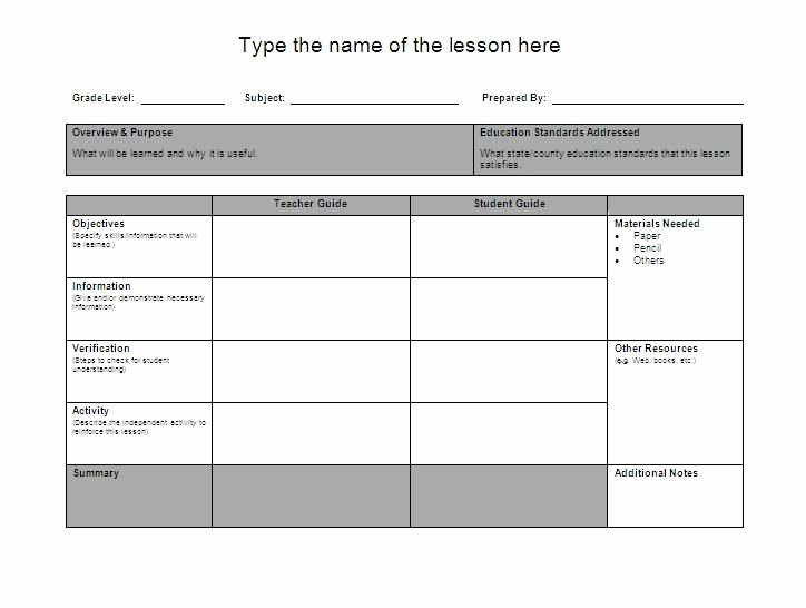 Unit Lesson Plan Template New Lesson Plan Template Google Search